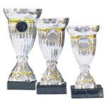 Pokaler - Sølvpokal med guldringe 1974